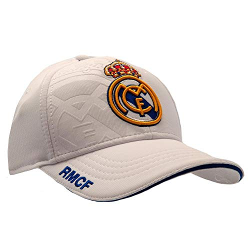 Real Madrid CF Baseballkappe weiß (Einheitsgröße) (Weiß)