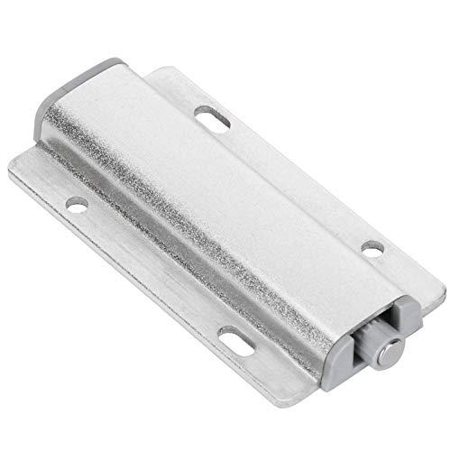 4 juegos de pestillos magnéticos para abrir y empujar, amortiguador de puerta, dispositivo de bloqueo automático con resorte sin manijas