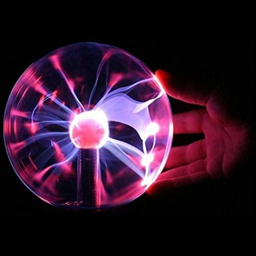 G-Licky Lámpara de Plasma, Bola Decorativa con Efecto de Rayos y descargas...