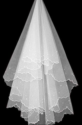 blanc charme simple couche voile belle de mariage mariée, de 1,5 mètres