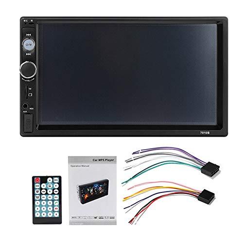 lzndeal - Set autoradio da 7 pollici, MP5, lettore MP3, Bluetooth, vivavoce, 2Din, telecamera per retromarcia