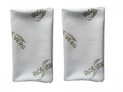 MaxxGoods Juego de 2 fundas de almohada de aloe vera, antialérgicas, 42 x 70 cm