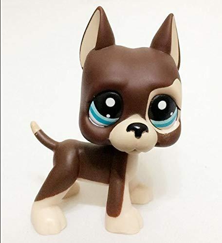 Littlest pet Shop LPS#1519 Brown Great Dane Dog Puppy with Blue Eyes