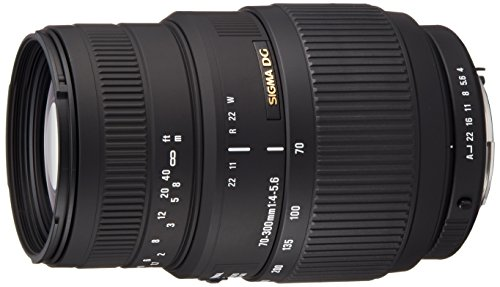 Sigma 70-300 mm F4,0-5,6 DG Makro-Objektiv (58 mm Filtergewinde) für Pentax Objektivbajonett