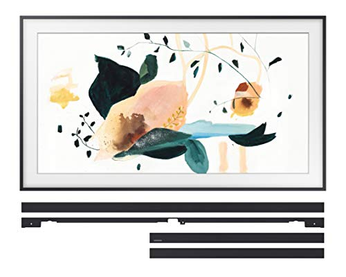 "Samsung QN75LS03TA The Frame 75"" QLED 4K Ultra High Definition Smart TV with a Samsung VG-SCFT75BL 75"" Black Customizable Bezel for The Frame TV (2020)"