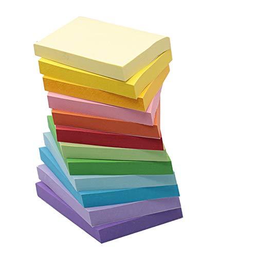 Sinoest Selbstklebende Haftnotizzettel Haftnotizen Sticky Notes in 76 x 76 mm Klebezettel bunt zettel farbig Notizblöcke à 100 Blatt in 12 Farben für Büro Haushalt Studenten (76 x 76)