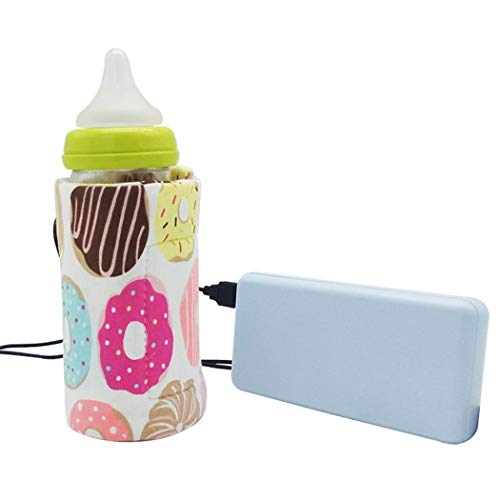 Best Review Of Xuprie USB Portable Travel Baby Feeding Bottle Warmer Bag Heated Cover Warmers & Ster...