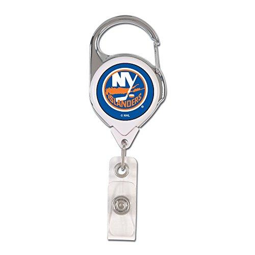 Wincraft NHL New York Islanders Retractable 2S Prem Badge Holders, Black