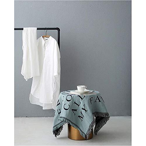 BZRXQR Versátil Sofá nórdica Manta Decorativa for Sala de Estar de Fundas de Punto de Rosca Lanza Piano a Prueba de Polvo Cubierta Mantel Tapiz sofá (Color : Green, Size : 90x90cm)