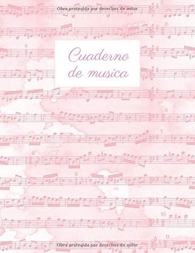 Cuaderno de musica: Cuaderno de Música con 8 Pentagramas