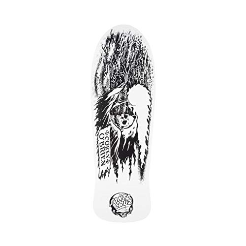 "Santa Cruz Skateboard Deck Obrien Reaper My Colorway Reissue White 9.85"" x 30"""