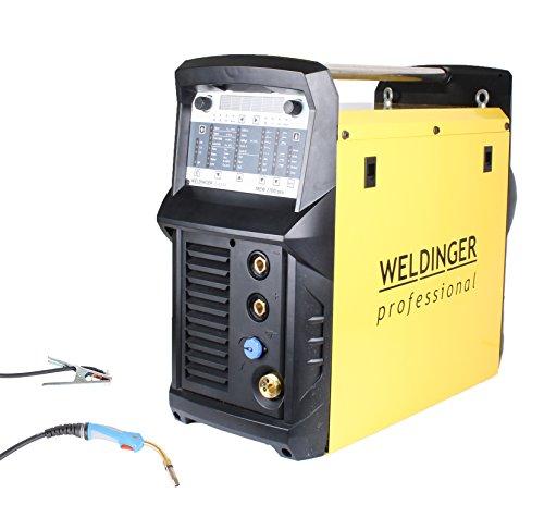 WELDINGER MIG/MAG-Schweißinverter MEW 2700 pro synergisches Profigerät 270 A Pulsfunktion (auch WIG/Elektrode)