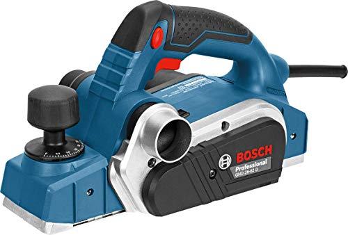 Bosch Professional Handhobel GHO 26-82 D (inkl. Parallelanschlag, Sechskantstiftschlüssel SW 2,5, Stoffstaubbeutel, im Koffer)