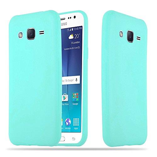 Cadorabo Funda para Samsung Galaxy A5 2015 en Candy Azul – Cubierta Proteccíon de Silicona TPU Delgada e Flexible con Antichoque – Gel Case Cover Carcasa Ligera