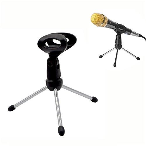 Trípode de mesa para Micro Soporte de micrófono de escritorio ajustable portátil plegable