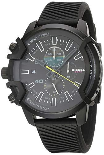 Diesel DZ4520 - Reloj de pulsera para hombre con cronógrafo y correa de silicona, color negro