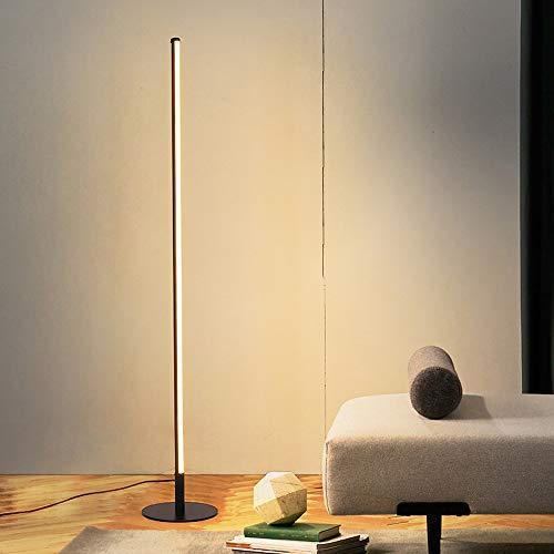 Crayom Lámpara de pie LED 18W Control de Cambio de Color Tricolor 125cm Luz de Piso Alta Luz de pie Minimalista nórdica Que Cambia de Color con Control Remoto Regulable para Comedor Sala de Estar
