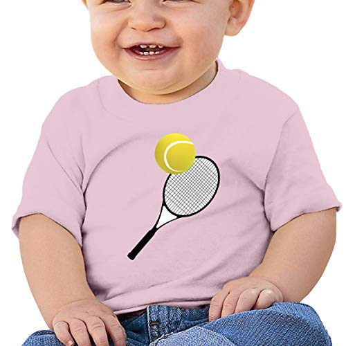 Tennis Ball Tennis Racket Short Sleeve T-Shirt Best for Boy Toddler/Infant Kids