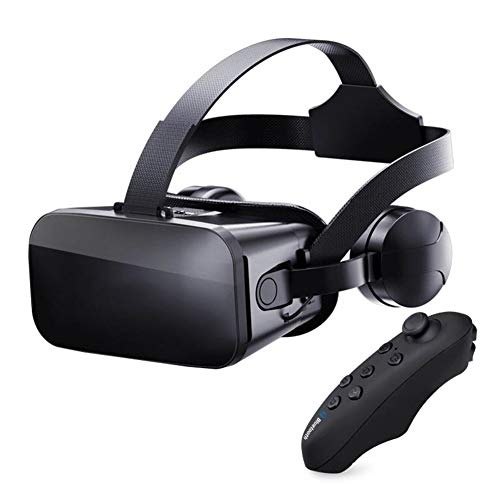 Peyan VR Headset with Remote Controller Virtual Reality Headset 3D Glasses, Anti-Blue-Light Lenses, Stereo Headset, for All Length Below 6.1 inch Include All The IOS And Andriod System Phone