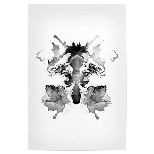artboxONE Poster 60x40 cm Natur Rorschach hochwertiger Design Kunstdruck - Bild Fuchs Fuchs Wald