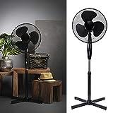 Ventilator Standventilator 40 cm Durchmesser, 3 Laufgeschwindigkeiten 90 Watt Klimagerät Gebläse Standlüfter Büro Smartweb