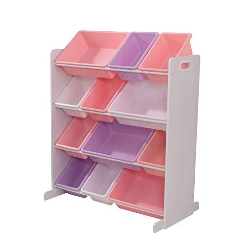 KidKraft 15450 Möbelstück für Spielzimmer/Kinderzimmer, Pastellfarben (Rosa/Lila), 12 Container