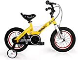 LYP Triciclo Bebé Trolley Trike Bicicleta para niños convenientes, 14 Pulgadas Hombres y Mujeres Bizcocho Bizcocho 3-6-8 Años Niño Niño Bebé Carro Cómodo (Color : Yellow)