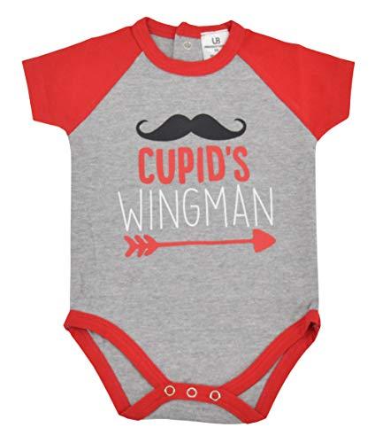 Unique Baby Boys Cupids Wingman Valentine's Day One-Piece Layette (12 Months) White