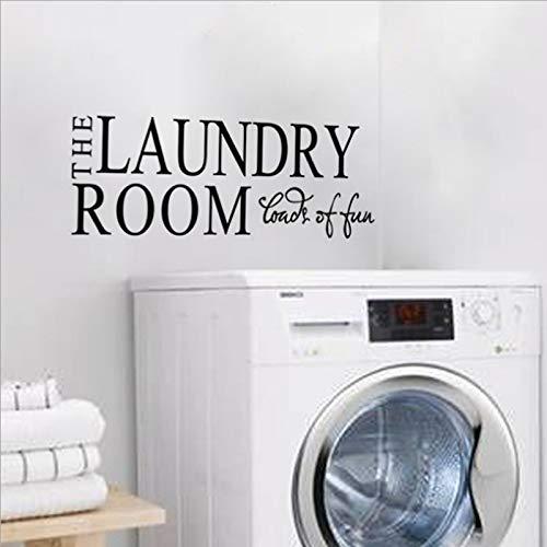 Umweltfreundliche PVC Hauptdekoration Waschküche Waschmaschine dekorative Buchstaben Spaß Wandaufkleber 56 * 17 cm