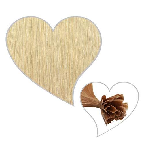 GLOBAL EXTEND® 25 Strähnen mit Keratinbondings Echthaar champagnerblond#22 30-35 cm Remy Hair Extensions Haarverlängerung Haarverdichtung U-Tip Keratin Bondings 1 Gramm Haarsträhne