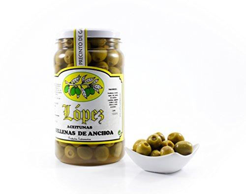 Aceitunas Manzanillas Rellenas de Anchoa - Envase PET 1.200 g. (Peso Neto)