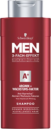 Schwarzkopf Men Arginin Wachstums-Faktor Shampoo, 4er Pack (4 x 250 ml)