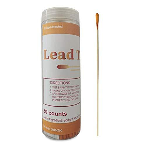 30-teiliges Blei-Test-Kit, Einweg-Blei-Farb-Test-Set für lackierte Oberflächen, Hausfarben, Metall, Vinyl, Gips und Trockenbau empfindlicher Blei-Tester