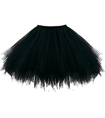 Huifany Women's Tutu Short Tulle Petticoat Ballet Bubble Skirts Prom Dress up