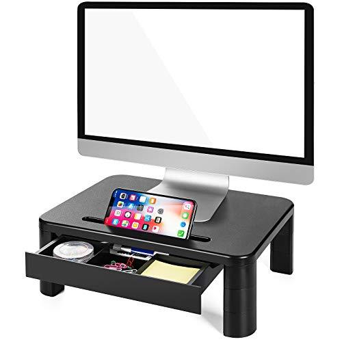LORYERGO Soporte de Monitor con 3 Alturas Ajustables Monitor Elevador Mesa con...