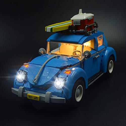 Nlne Conjunto De Luces para (Creator Expert Volkswagen Beetle) Modelo De Construcción De Bloques - Kit De Luz LED Compatible con Lego 10252 (NO Incluido En El Modelo)