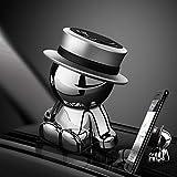 Supporto universale per telefono auto, cruscotto, accessorio per auto, decorazione della casa (argento)