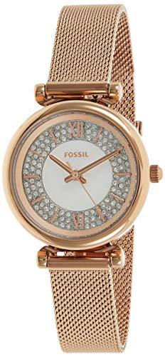 FOSSIL Reloj Analógico para Mujer de Cuarzo con Correa en Acero Inoxidable ES4836