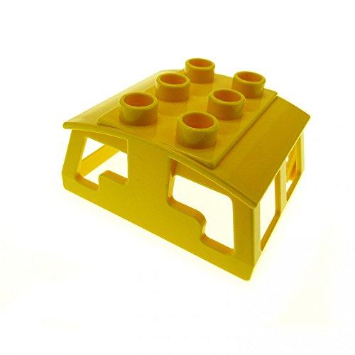 Eisenbahn ERSATZTEIL AUFSATZ LOKOMOTIVE GROß 51546 Lok Zug Dach gelb für E-Lok 2730 2741 2745 Lego Duplo E15