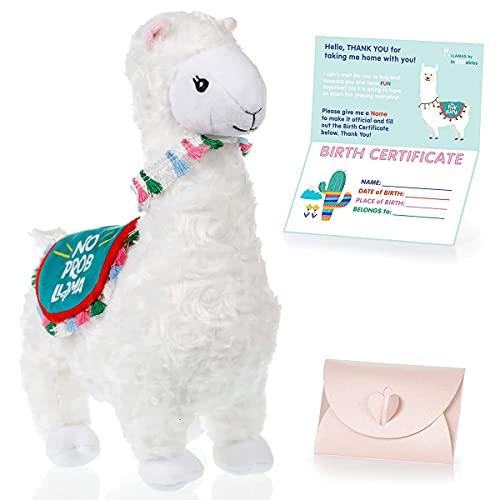 Product Image of the InFLOATables Llama Stuffed Animal - Cute Llama Doll - Llama Plush with No Prob...