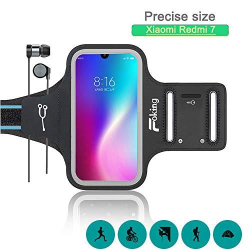 Foking Brazalete para Telefono Movil, Brazalete Deportivo para Xiaomi Redmi 7,Multiusos, Adjustable en Diferentes Tamano, Design Seguro (2019 Version Mejorada)