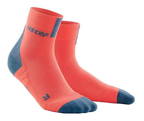 CEP Unisex-Adult Short Socken, 3.0-Coral/Grey, 42-46