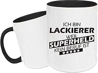 Shirtstown Taza de Cerámica, Taza, Super Héroe para Besten Profesión del Mundo, Colega, Job - Barnizador Superheld, 330 ml