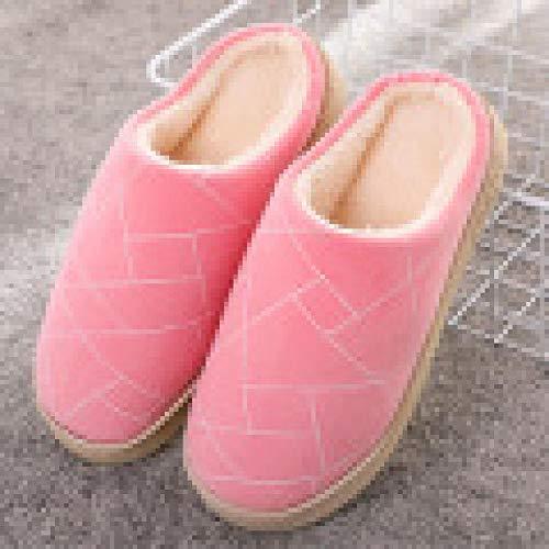 Nwarmsouth Invierno Confort Memoria Espuma Zapatillas,Zapatillas de Felpa de Invierno, Zapatos de algodón cálidos de Dibujos Animados-3 Rosa_35-36,Slippers Unisex-Adulto