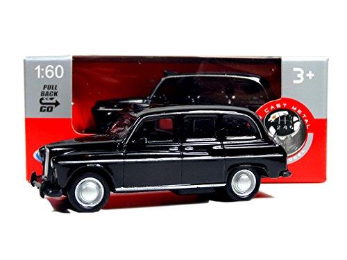 London Black Taxi Mini-model gemaakt van gegoten metaal en plastic onderdelen met pull-back en go-actie