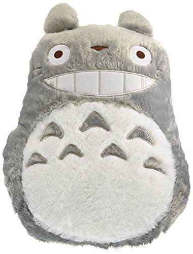Studio Ghibli via Bluefin Marushin My Neighbor Totoro Big Grey Totoro Die-Cut Cushion - Official Studio Ghibli Merchandise, Grey,White