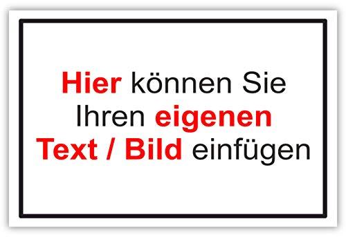 SCHILDER HIMMEL Wunschtext Schild, komplett anpassbar mit eigener Text/Bild. Viele Verschiedene Größen und Materialien usw. Über 200 Designs möglich