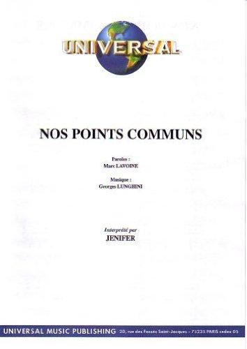 NOS POINTS COMMUNS