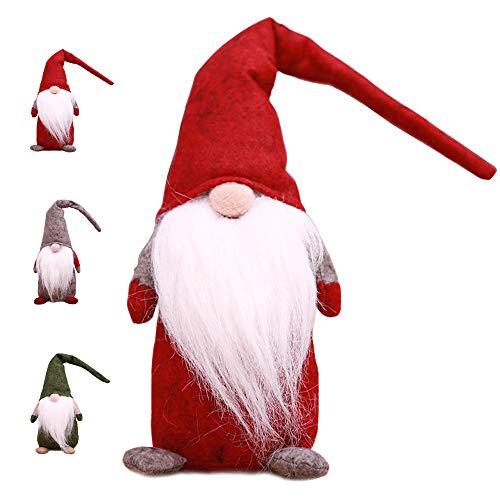 Weihnachtswichtel Kantenhocker Wichtel Figuren Weihnachten Weihnachtsdeko Plüsch Handgemachte Geschenke Urlaub Dekorationen (Rot)