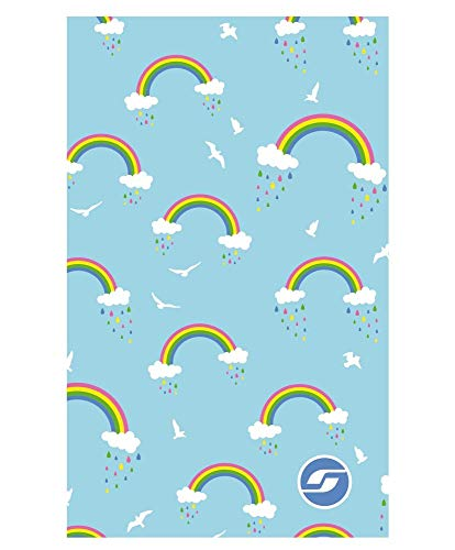RAS Toalla Microfibra Rainbow Ligt Blue Jr. 80cm. x 130cm.